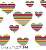 Купить «Открытка ко дню святого Валентина», иллюстрация № 1271144 (c) Камбулина Татьяна / Фотобанк Лори