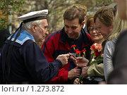 Купить «Часы - подарок комдива», фото № 1273872, снято 9 мая 2006 г. (c) Юрий Кобзев / Фотобанк Лори