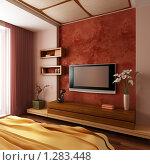 Купить «Современный интерьер спальни», иллюстрация № 1283448 (c) Дмитрий Кутлаев / Фотобанк Лори