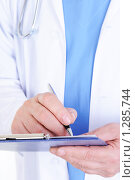 Купить «Доктор что-то пишет», фото № 1285744, снято 10 марта 2009 г. (c) Валуа Виталий / Фотобанк Лори