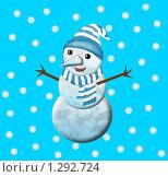 Снеговик. Стоковая иллюстрация, иллюстратор Ольга Гончар / Фотобанк Лори