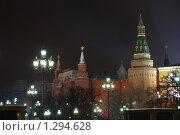 Ночной Кремль (2009 год). Стоковое фото, фотограф Денис Шустиков / Фотобанк Лори