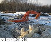 Затонувший экскаватор. Редакционное фото, фотограф Таир Сейтхалилов / Фотобанк Лори