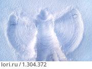 Снежный ангел. Стоковое фото, фотограф Евгения Никифорова / Фотобанк Лори