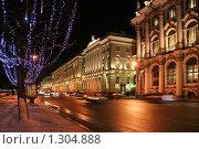 Купить «Зимний дворец ночью зимой», фото № 1304888, снято 16 декабря 2009 г. (c) Александр Секретарев / Фотобанк Лори