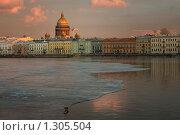 Купить «Нева. Санкт-Петербург», эксклюзивное фото № 1305504, снято 9 февраля 2009 г. (c) Александр Алексеев / Фотобанк Лори