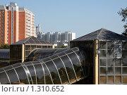 Купить «Пешеходный переход через МКАД», фото № 1310652, снято 5 сентября 2009 г. (c) Юрий Синицын / Фотобанк Лори