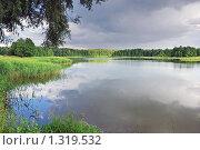 Купить «Летний пейзаж. Озеро после грозы.», фото № 1319532, снято 1 июля 2008 г. (c) Икан Леонид / Фотобанк Лори
