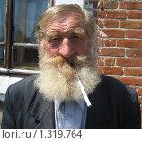Лицо бородатого старожила. Стоковое фото, фотограф Валентин Тучин / Фотобанк Лори