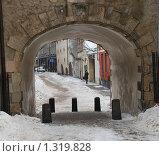 Рига. Латвия. Арка, вход в Старую Ригу. (2009 год). Стоковое фото, фотограф Елена Носик / Фотобанк Лори