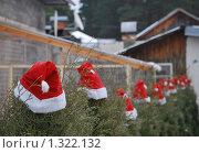 Новогоднее оформление двора. Стоковое фото, фотограф Елена Носик / Фотобанк Лори