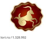 Купить «Козерог. Знак зодиака», иллюстрация № 1328992 (c) Дорощенко Элла / Фотобанк Лори
