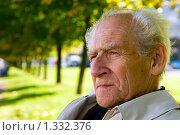Купить «Портрет пожилого мужчины», фото № 1332376, снято 20 сентября 2009 г. (c) Анна Лурье / Фотобанк Лори
