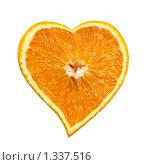 Апельсиновое сердце. Стоковое фото, фотограф Тамара Нагиева / Фотобанк Лори