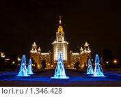 Купить «МГУ», фото № 1346428, снято 5 января 2010 г. (c) Павлюченко Елена / Фотобанк Лори