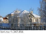 Коттедж зимний. Стоковое фото, фотограф Сергей Кудряков / Фотобанк Лори