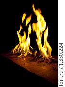 Огонь на темном фоне. Стоковое фото, фотограф Алексей Головин / Фотобанк Лори