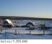 Зимняя деревня. Стоковое фото, фотограф Горбатенков Павел / Фотобанк Лори