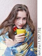 Купить «Девушка болеет», фото № 1357732, снято 20 декабря 2009 г. (c) Ирина Золина / Фотобанк Лори