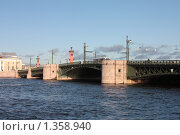 Вид на дворцовый мост Санкт-Петербурга с Адмиралтейской набережной (2008 год). Стоковое фото, фотограф Галина Новикова / Фотобанк Лори