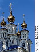 Купола храма Петра и Павла, г. Североуральск (2009 год). Стоковое фото, фотограф Андрей Мелкозеров / Фотобанк Лори
