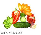 Купить «Свежие разрезанный овощи», фото № 1370552, снято 10 сентября 2009 г. (c) Кардашева Ирина Александровна / Фотобанк Лори