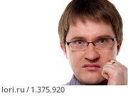 Купить «Гнев молодого мужчины», фото № 1375920, снято 6 декабря 2009 г. (c) Наталья Белотелова / Фотобанк Лори
