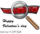 Купить «Кинопленка с сердцами», иллюстрация № 1377524 (c) Сергей Королько / Фотобанк Лори