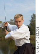 Купить «Восточные единоборства», фото № 1382352, снято 1 октября 2006 г. (c) Andrejs Pidjass / Фотобанк Лори