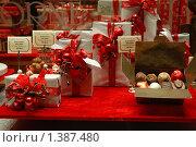 Купить «Подарочные упаковки шоколадных конфет», фото № 1387480, снято 31 декабря 2009 г. (c) Maria Kuryleva / Фотобанк Лори