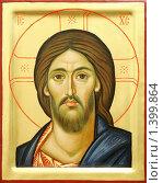 Купить «Икона Иисуса Христа», фото № 1399864, снято 11 января 2010 г. (c) Дмитрий Калиновский / Фотобанк Лори
