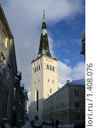 Купить «Церковь Оливесте», фото № 1408076, снято 4 января 2010 г. (c) Александр Секретарев / Фотобанк Лори