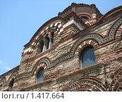 Силуэт старой заброшенной церкви в Турции. Стоковое фото, фотограф Яков Козарез / Фотобанк Лори