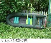 Резиновая лодка. Стоковое фото, фотограф Константин Григорьев / Фотобанк Лори