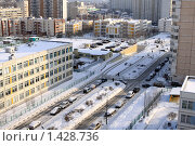 Купить «Москва. Городские джунгли спального района», фото № 1428736, снято 30 января 2010 г. (c) Ярослав Каминский / Фотобанк Лори