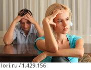 Купить «Конфликт в семье», фото № 1429156, снято 14 сентября 2007 г. (c) Гладских Татьяна / Фотобанк Лори