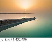 Мертвое море. Восход со стороны Иордании (2009 год). Стоковое фото, фотограф Кельс Андрей / Фотобанк Лори
