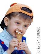 Купить «Мальчик с мороженым», фото № 1438020, снято 14 июня 2004 г. (c) Владимир Блинов / Фотобанк Лори