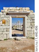 Купить «Руины базилики на мысе Херсонес в Севастополе», фото № 1440496, снято 8 марта 2009 г. (c) Михаил Марковский / Фотобанк Лори