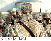 Купить «Девушки-солдаты на параде», фото № 1441912, снято 18 ноября 2009 г. (c) Vladimirs Koskins / Фотобанк Лори