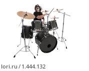 Купить «Барабанщик с боди-артом на лице», фото № 1444132, снято 21 марта 2009 г. (c) Евгений Гультяев / Фотобанк Лори