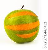 Купить «Смешное яблоко с апельсиновой кожурой», фото № 1447432, снято 2 февраля 2010 г. (c) Василий Вишневский / Фотобанк Лори