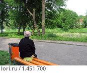 Одинокий пожилой человек. Стоковое фото, фотограф gooclia / Фотобанк Лори