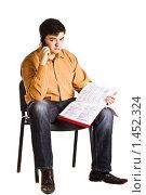 Мужчина говорит по телефону. Стоковое фото, фотограф Вадим Литвиненко / Фотобанк Лори
