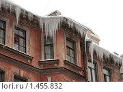 Сосульки на крыше (2010 год). Стоковое фото, фотограф Константин Мартынов / Фотобанк Лори