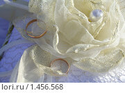 Обручальные кольца на подушечке. Стоковое фото, фотограф Лизунова Анастасия / Фотобанк Лори
