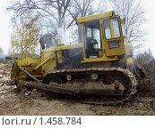 Бульдозер Т-150 перегрелся. Стоковое фото, фотограф Юрий Зуев / Фотобанк Лори