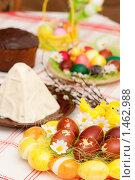 Купить «Праздничный пасхальный стол», фото № 1462988, снято 19 апреля 2009 г. (c) Ольга Хорькова / Фотобанк Лори