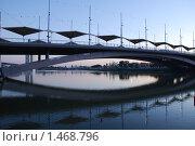 Мост в Севилье  вечером. Испания. (2006 год). Стоковое фото, фотограф Валерий Шевцов / Фотобанк Лори