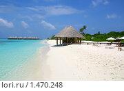 Пляж на тропическом острове, Мальдивы. Стоковое фото, фотограф Васильева Татьяна / Фотобанк Лори